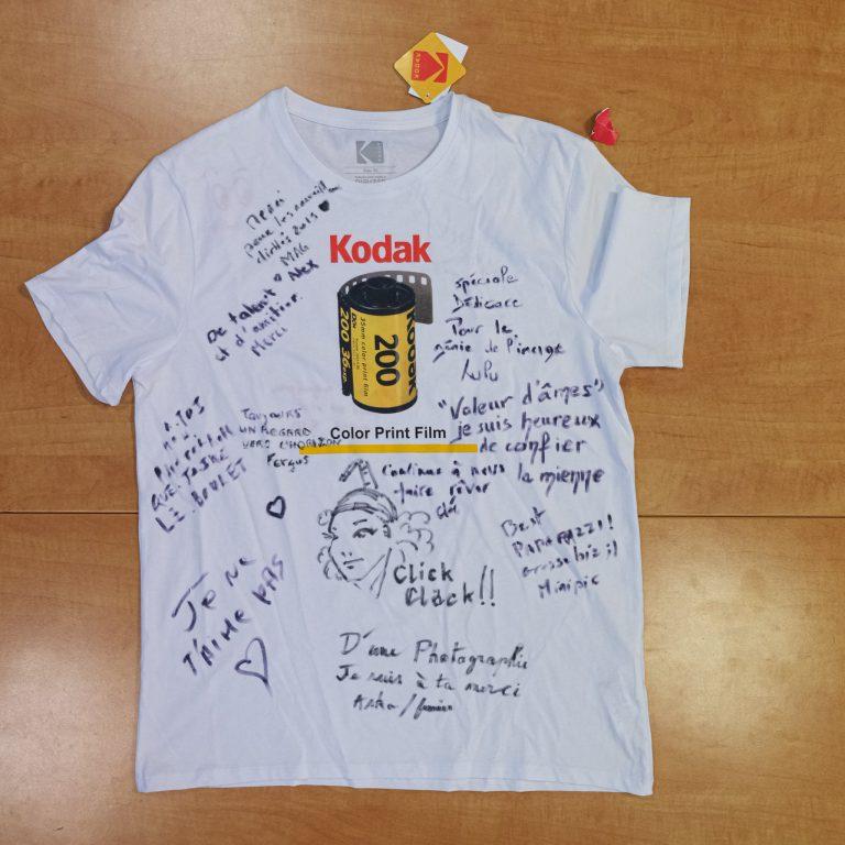 T-shirt signé verso