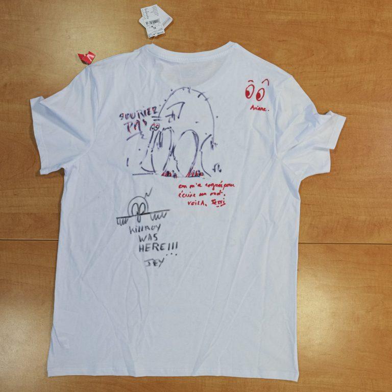T-shirt signé recto