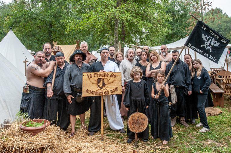 Les Hommes En Noir à la médiévale de Saint Pouage (Aube)